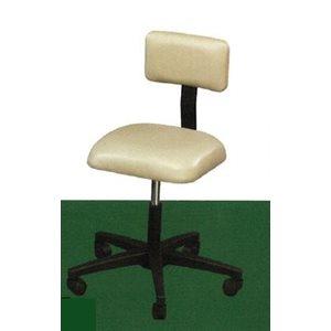 "B-stool, 15"" square seat with backrest, auto-lift, 5-leg"