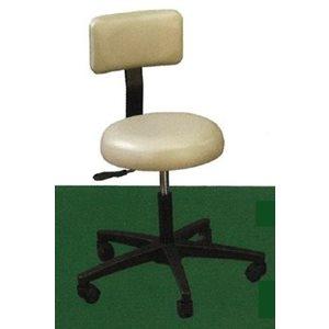 C-stool, round seat with backrest, auto-lift, 5-leg
