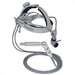 Dual Adj.Headband, 140mm, 3.5mm, Clear Cable, Ultra grip